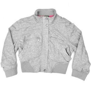 Dots Junior's Gray Crop Jacket NWT